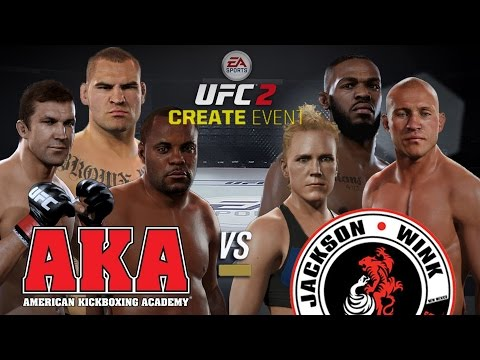 EA UFC 2 - Custom Event - American Kickboxing Academy vs Jackson-WinkelJohn MMA (LIVE STREAM)