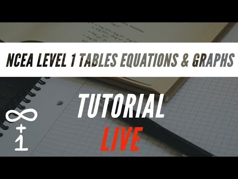 NCEA Level 1 Tables Equations & Graphs Tutorial – 2019 Help Desk