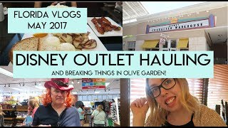 Day 12 | Disney Character Warehouse Haul and Olive Garden | Florida Vlogs May 2017 | Elle and Mimi