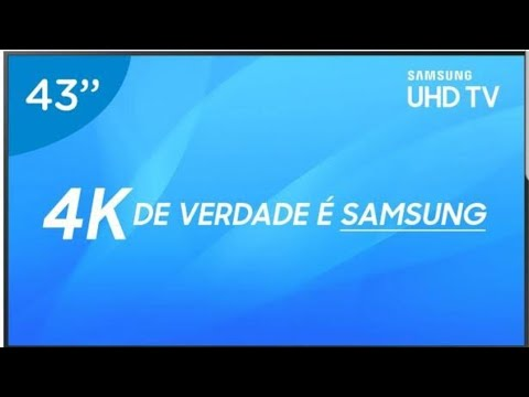 Unboxing Smart Tv 4k 43RU7100 SAMSUNG, VALE A PENA?