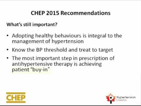 2015 CHEP Guidelines: What's new in the treatment of hypertension? What's still really important?