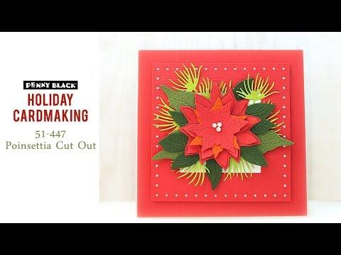 PB&J | Holiday Cardmaking | Poinsettia Die Cut