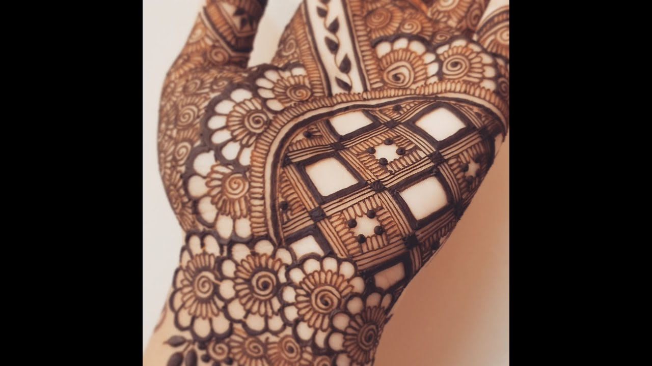 New Grid Palm Henna Design Youtube