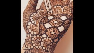 New Grid Palm Henna Design