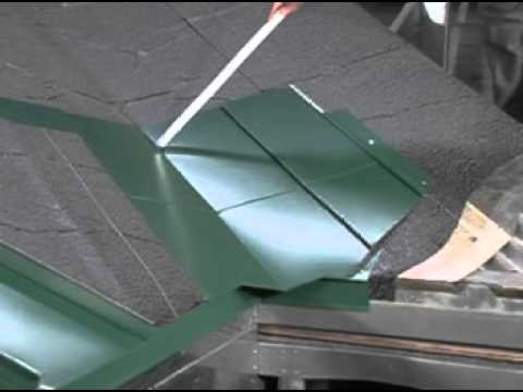 How To Install Valley Flashing On A Standing Seam Metal Roof   YouTube
