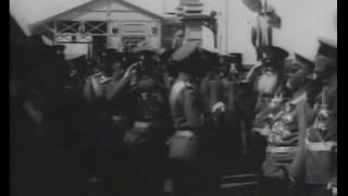 200-летие Полтавской битвы. 1909 год. Николай II прибыл в Полтаву. Съемки А.К. Ягельского. Часть 1