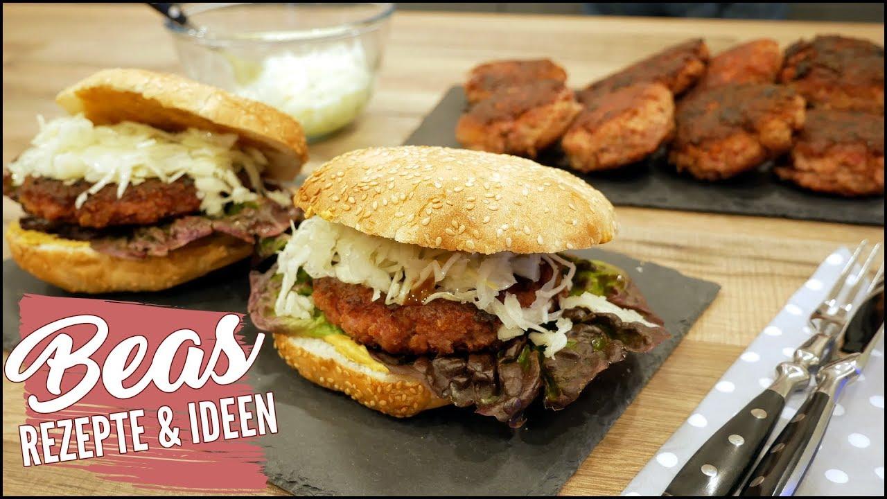 kasseler frikadellen rezept burger mit kassler patties herzhaft kochen youtube. Black Bedroom Furniture Sets. Home Design Ideas