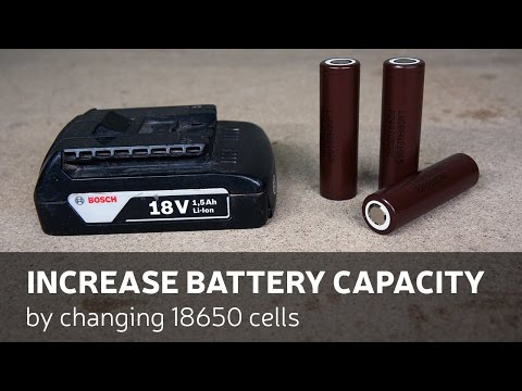 DIY: Increase Battery Capacity By Changing 18650 Cells