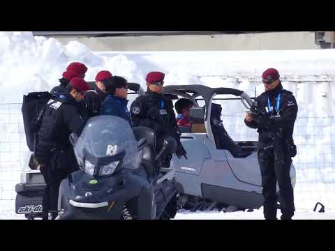 South Korean S.W.A.T. Forces at Winter Olympics Games. Pyeongchang 2018