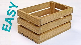 How to make a wooden crate box. Nice DIY wooden box