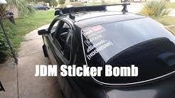 Vlog #43 | Applying Car Decals: JDM Sticker Bomb