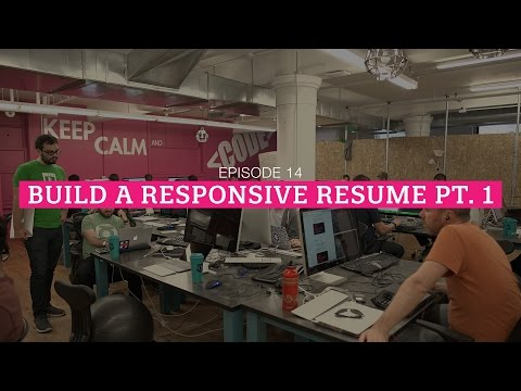 The HTML Show - Episode 14: Building A Responsive Resume Pt. 1