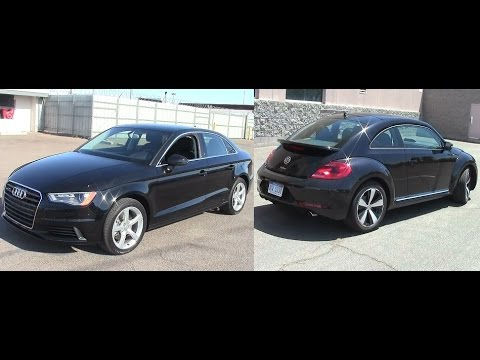 2014 volkswagen beetle r line turbo and 2015 audi a3 turbo youtube. Black Bedroom Furniture Sets. Home Design Ideas