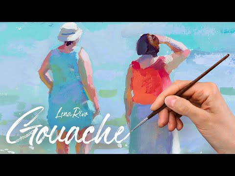 Gouache Sketchbook Painting Time Lapse - Majorca