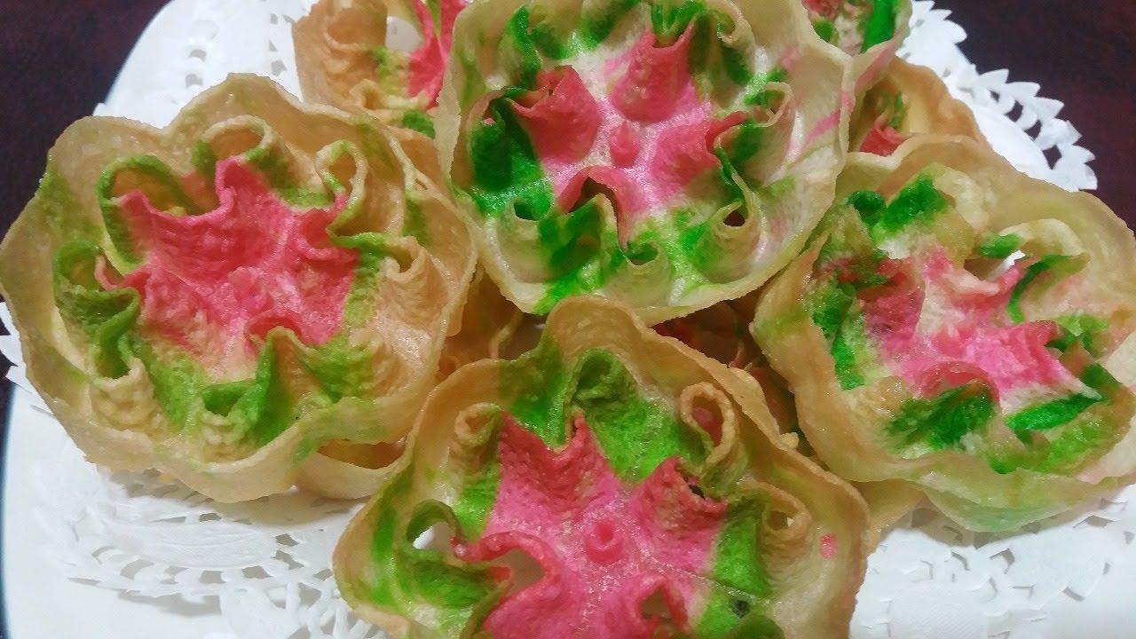 Kue Kembang Goyang Warna Warni Renyah By Dafa Tubehd