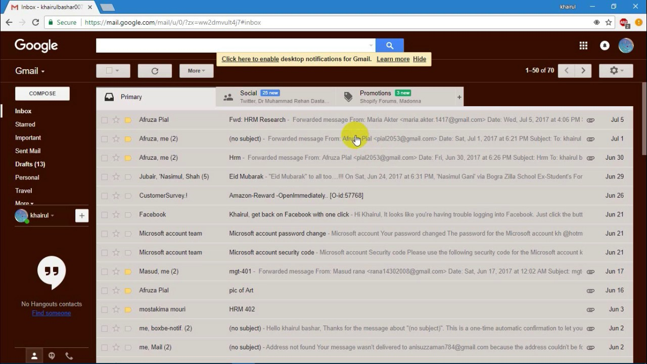How to create an Email template in Gmail without HTML(Bangla)!! 4 ...
