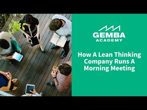 How Lean Thinking Company Runs Morning Meeting