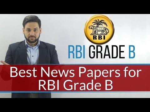Best Newspaper for RBI Grade B Exam