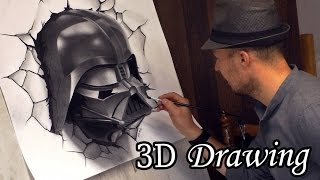 Darth Vader Busts Out in Star Wars / 3D Speed Painting #drawing dibujar desenho