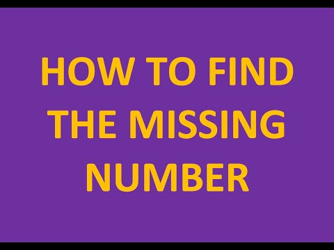 Find Missing Number (numbers up to 1,000) - subtraction
