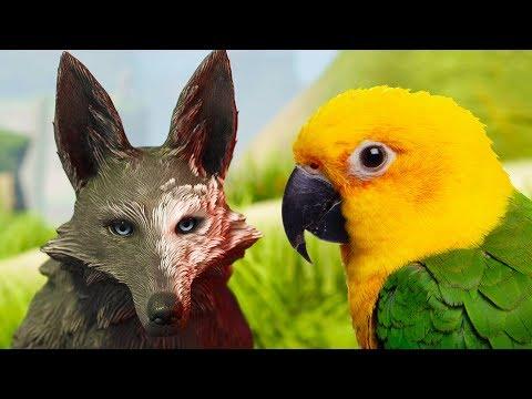 СИМУЛЯТОР МАЛЕНЬКОГО ПИТОМЦА и Искорки #6 Сим волка и птицы попугая. Красивая игра на пурумчата