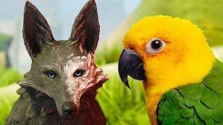 СИМУЛЯТОР МАЛЕНЬКОГО ПИТОМЦА и Искорки 6 Сим волка и птицы попугая. Красивая игра на пурумчата
