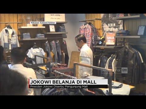 Jokowi Belanja di Mall, Pengunjung Mall Heboh