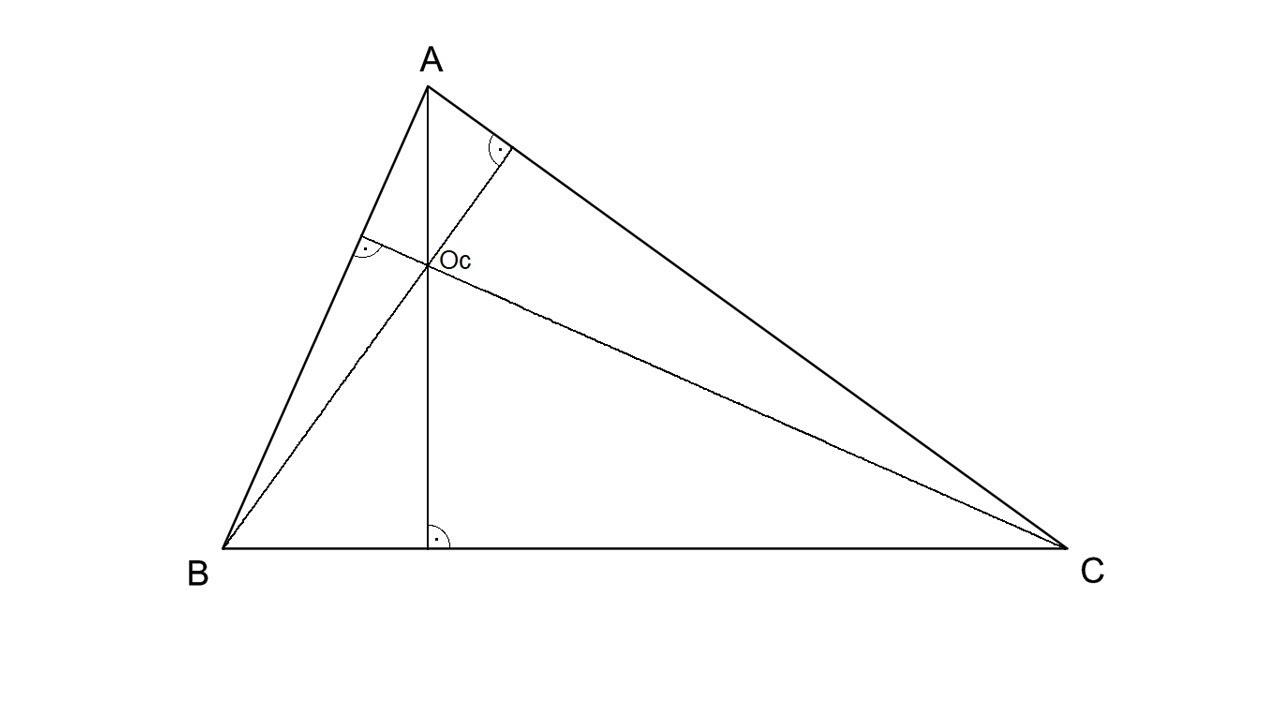 Ortocentro De Un Triángulo Alturas Youtube