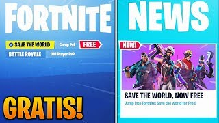 Finally.. Save The World FOR FREE in Fortnite! (Save The World Approximate Free Date)