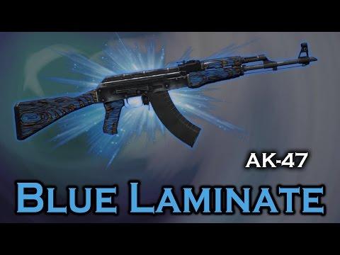 Blue Laminate Ak 47 Stattrak Stickers Skin Preview Fn Mw Ft Ww Bs Youtube