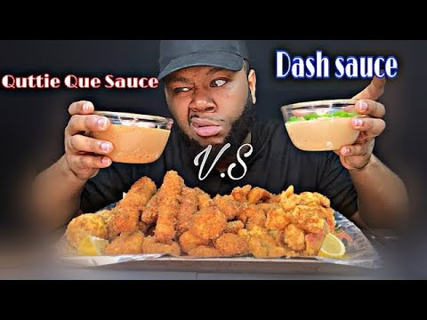 Exposing!!! EAT WITH QUE | Fried Seafood Boil Quttie Que Sauce V.S Dame Dash Sauce