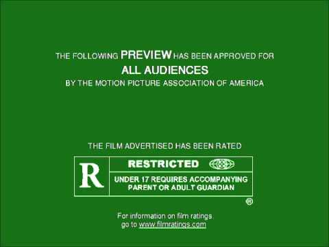 MPAA Film Rating Preview Boards (V2; Homemade)