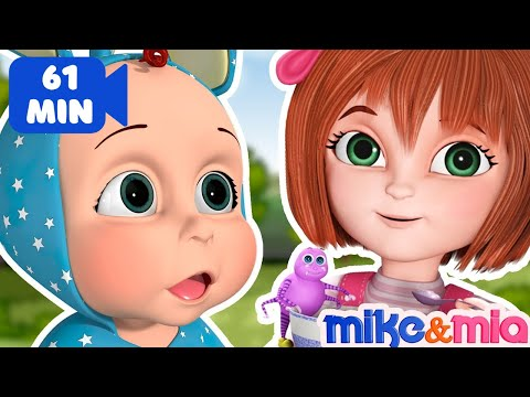 Thumbnail: Little Miss Muffet | Popular Nursery Rhymes and Best Kids Songs | Children Songs by Mike and Mia