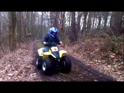 LT80 first time on suzuki LT 80 QUAD FUN - YouTube