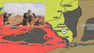 4 июня 2018. Военная обстановка в Сирии. Атака ИГИЛ на позиции сирийской армии возле реки Евфрат.