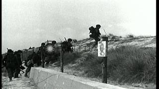 Advance of United States troops in Northern France for invasion of Normandy. HD Stock Footage