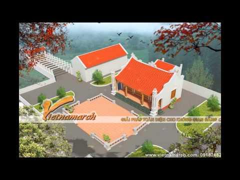 Chuyên thiết kế, thi công nhà thờ họ  LH: 0904.183.097. Mẫu nhà thờ họ đẹp