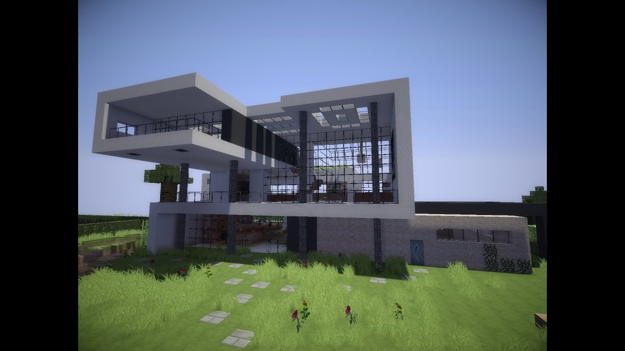 Minecraft modern house 9 modernes haus hd youtube for Modern house mc