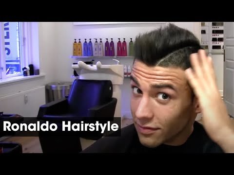Cristiano Ronaldo inspired haircut tutorial - how to style and cut his football and soccer hair Travel Video