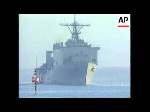Suez Canal - USS Guam en route to Gulf