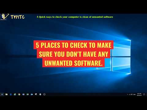 Check your computer for malicious software (virus and spyware)