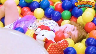 Indoor Playground Family Fun Slides, Ball Pit, Jumping & Bouncing Play with cute kid Genevieve!