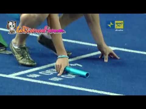 """Mondiali Atletica Berlino 2009: Finale 4x100 Uomini - Jamaica oro 37''91  """"clamorosamente"""" senza WR"""
