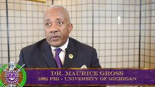 Dr. Maurice Gross (2-81-Phi) Phi Chapter Charter Date