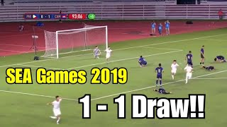 Sea Games 2019 | Goal Highlights For Philippine Football Team | Philippines  1  Vs Cambodia  1  Draw