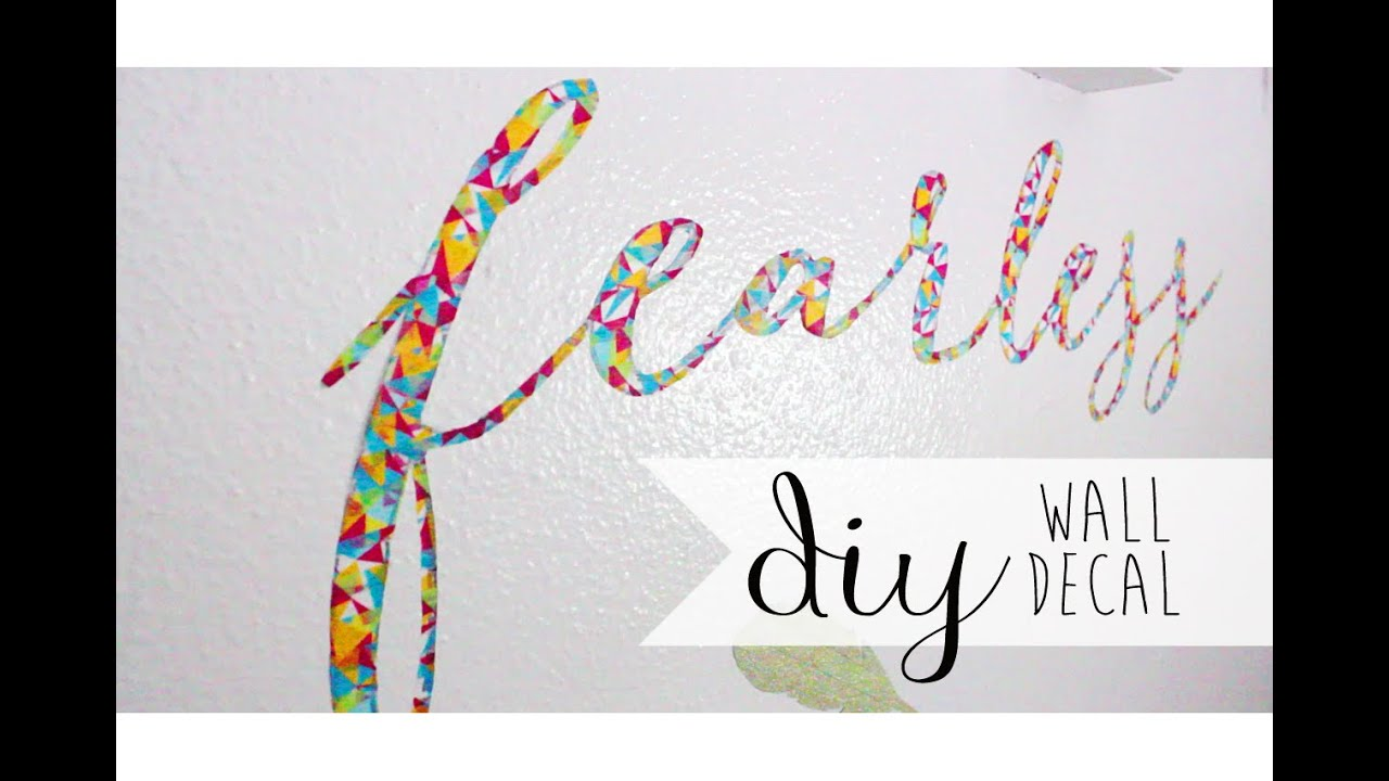 diy room decor wall decal using washi tape youtube. Black Bedroom Furniture Sets. Home Design Ideas