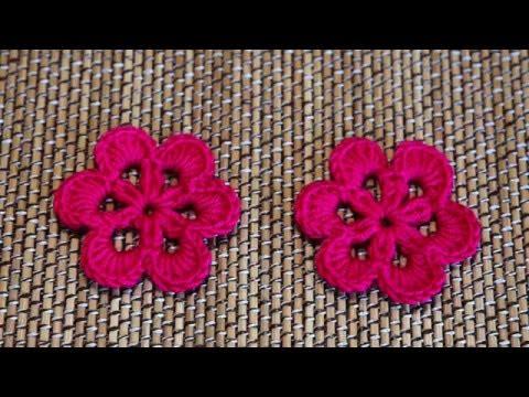 Easy Crochet  Flower - ถักดอกไม้โครเชต์ (ขั้นตอนแบบละเอียดและทำตามได้ง่าย)