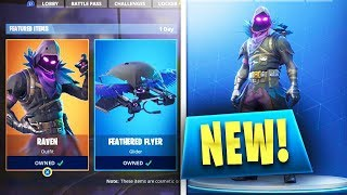"*NEW* ""Raven Skin"" and ""Feathered Flyer""! Fortnite Battle Royale Raven Skin Gameplay Update"