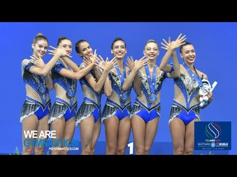 2017 Rhythmic Worlds, Pesaro (ITA) - Group Apparatus Final 5 Hoops, Highlights - We Are Gymnastics !