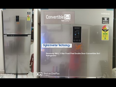 Samsung Frost Free Convertible 5in1 2019 Refrigerator 394 liter RT39K5518S8/TL3Star Unboxing/Review